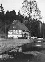 Photo: Wünschendorf im Erzgebirge  Sachsen  Hammermühle Neunzehnhain - Wohnhaus unterhalb der Mühle um 1925