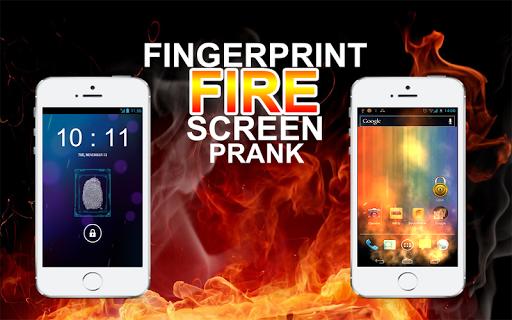 Fingerprint Fire Screen Prank