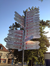 Photo: Directional signs to all Challenge Family races in town.