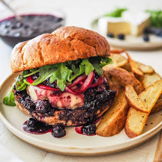 Balsamic Blueberry & Brie Burgers.