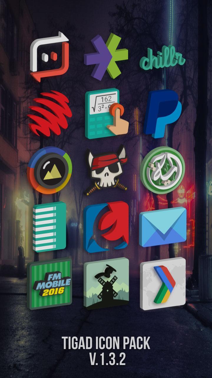Tigad Pro Icon Pack Screenshot 1
