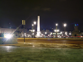 Photo: The Place de la Concorde, at the end of the Champs-Elysees. The 107 foot Egyptian obelisk is almost 3000 years old, and was erected here in 1833.