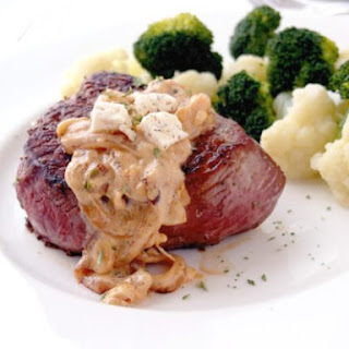 Sirloin Steaks with Creamy Onion Sauce.