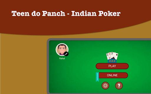 Teen Do Panch 325 Card game - Indian Poker 1.0.5 screenshots 1