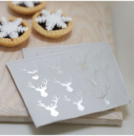 Små servetter - Christmas metallics.