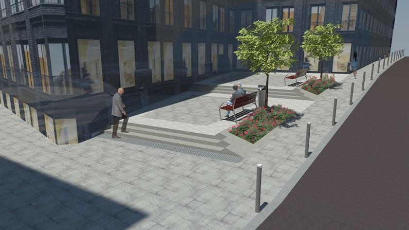 Recreación virtual de esta zona una vez concluidas las obras.