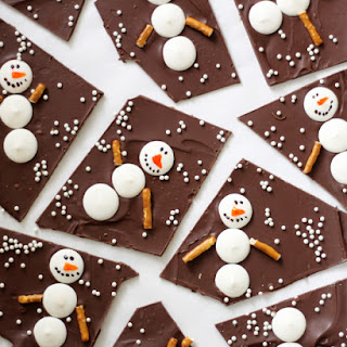 Snowman Chocolate Bark.