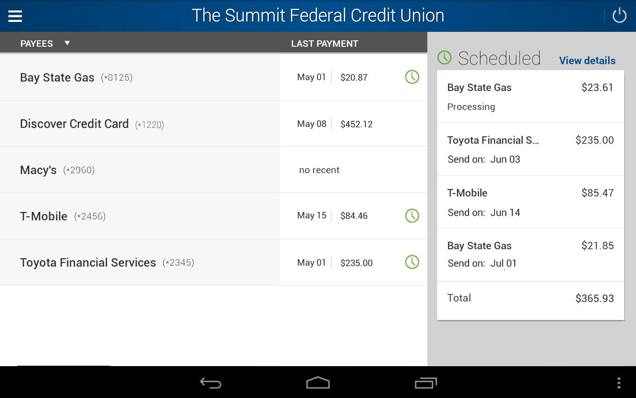 The Summit FCU- screenshot