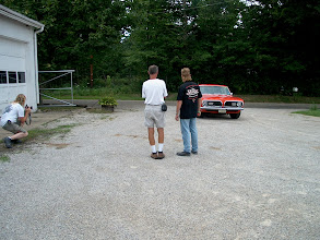 Photo: MCGS Rob Wolf and photographer talking about the car and photos