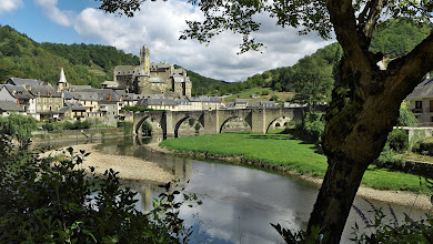 """Photo: Estaing, Aveyron - The chateau is the family home of former French president Valery Giscard-d""""Estaing"""