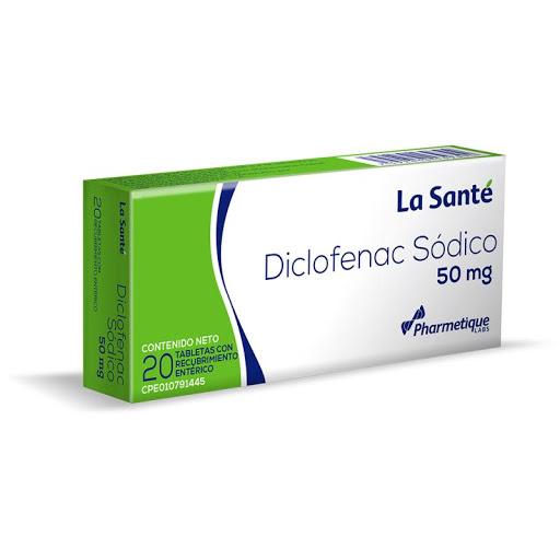 Diclofenac Sodico 50Mg X20 Tabletas La Sante  La Santé
