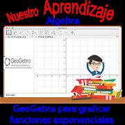 Geogebra para representar función exponencial
