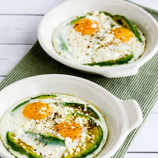 Low-Carb Baked Eggs with Avocado and Feta.