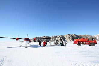 Photo: Getting fuel from the Italian Antarctic program