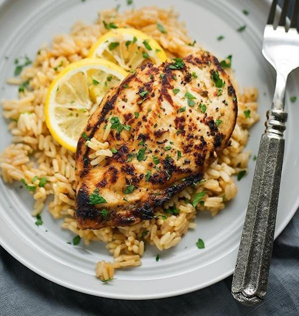 Linda's Lemon Chicken With Rice Pilaf Recipe
