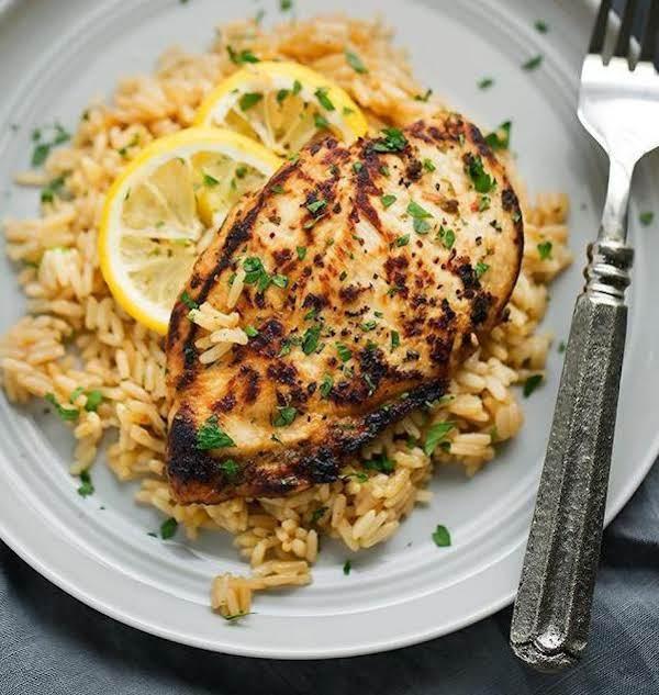 Linda's Lemon Chicken With Rice Pilaf Recipe
