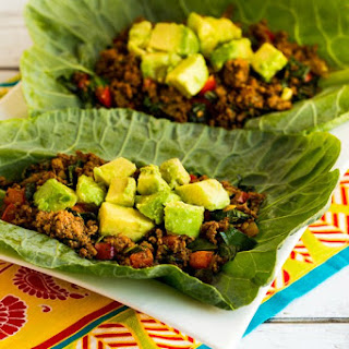 Southwestern Turkey Collard Wraps.