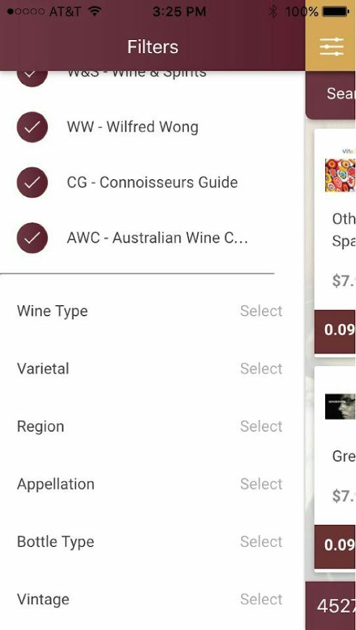 Wine Value Ratings- screenshot