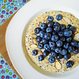 Quinoa Pudding with Fresh Blueberries