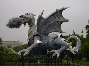 "Photo: This fanciful dragon ""guards"" the main Garden entrance near Place Valhubert."