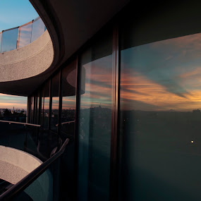 Window and reflection by Cristobal Garciaferro Rubio - Buildings & Architecture Architectural Detail ( reflection, window, sunrise )