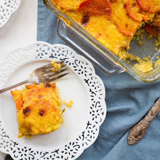 Sweet Potato Spinach Quinoa Gratin