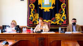 La alcaldesa durante el Pleno.