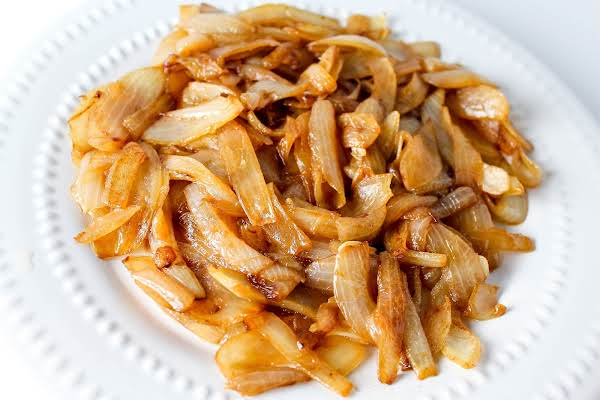 A Plate Of Properly Caramelized Onions.