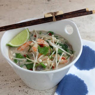 Shrimp Coconut Soup With Ginger And Lemongrass.