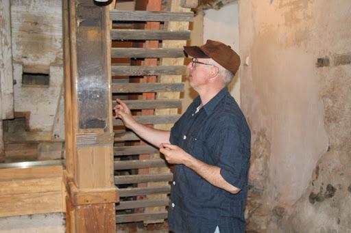 Historische Technik vom Chef persönlich erklärt... Hätten Sie gewußt was ein Bendelevator ist wund wozu er diente? (Bild A.M.)