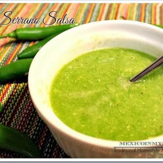 Raw Serrano Pepper Sauce / Salsa Cruda De Chile Serrano Recipe