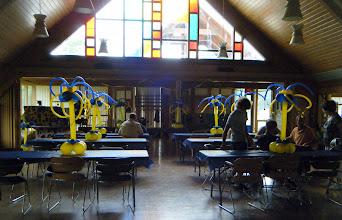 Photo: Graduation centerpeices at beautiful church.