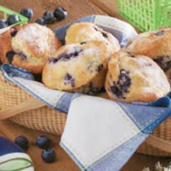 Sour Cream Blueberry Muffins Recipe