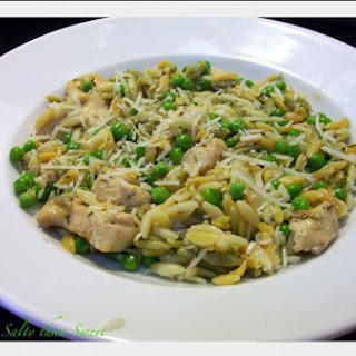 Orzo with Chicken and Peas
