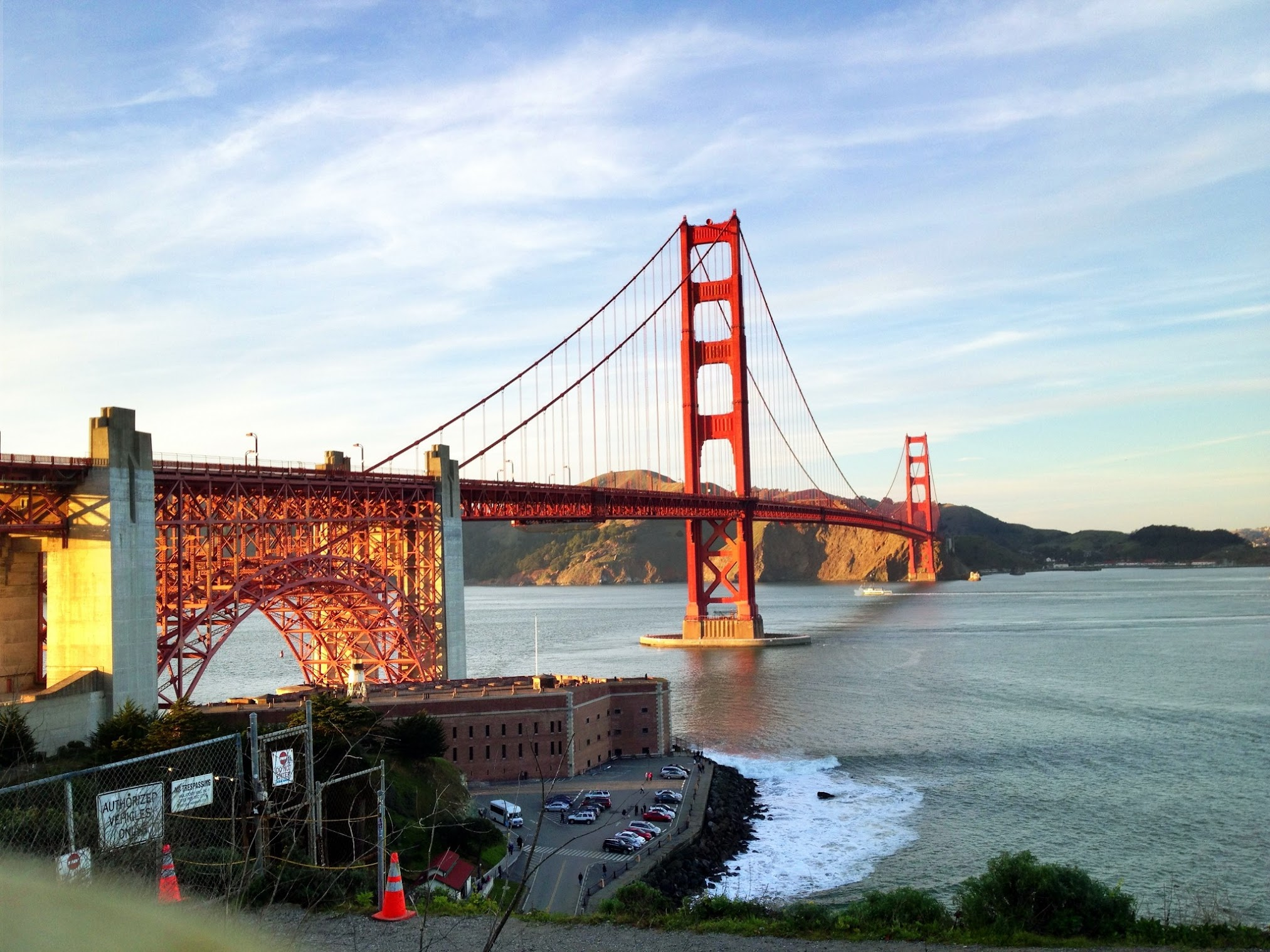Golden Gate Bridge from the Marin headland viewpoint