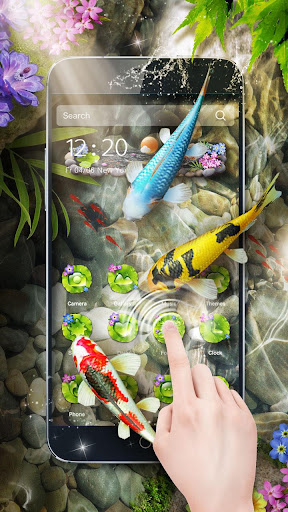 3D Koi Fish Theme & Lively 3D Ripple Effect for PC