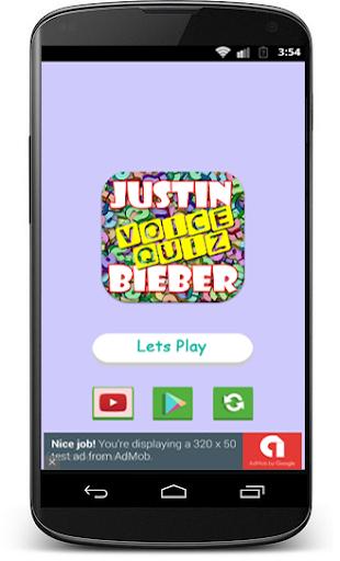 Justin Bieber - Voice Quiz