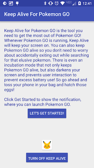 Keep Alive for Pokemon GO- screenshot thumbnail