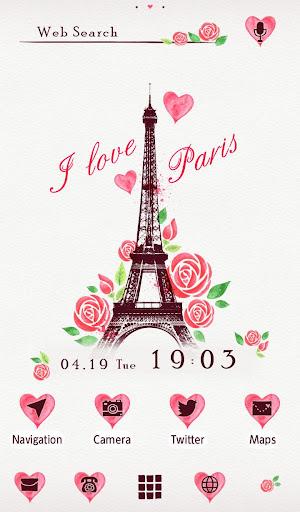 I Love Paris 壁紙きせかえ