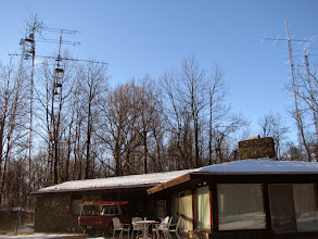 Photo: View of W4RX QTH and antenna farm
