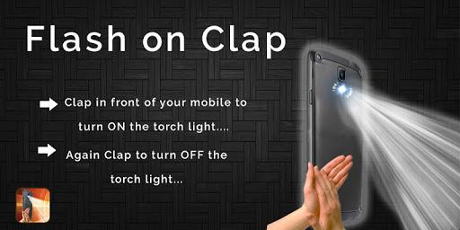 Flash Torch Light On Clap