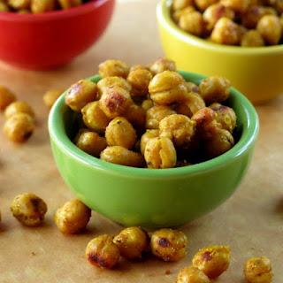 Crispy Curried Chick Peas (Garbanzo Beans).