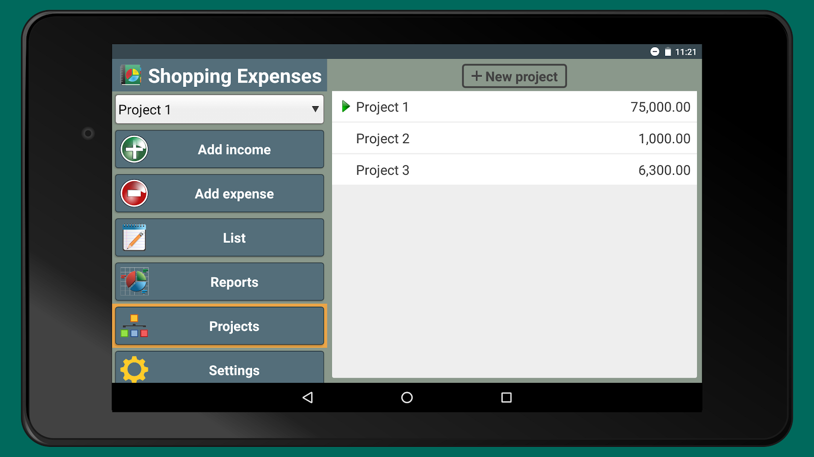 Shopping Expenses- screenshot