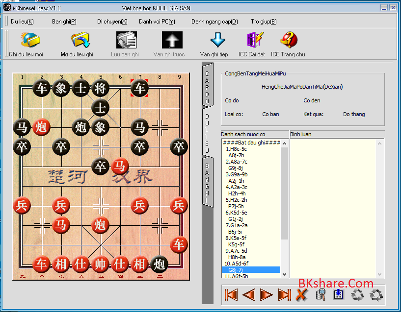 Download i-Chinese Chess V1.0 Việt hóa - Game luyện đành cờ lên cao thủ