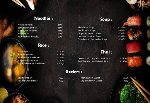 The London Shakes menu 1