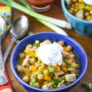 Easy Chicken and Chickpea Chili.