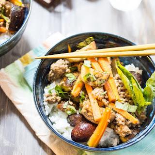 Thai Pork and Eggplant Rice Bowl