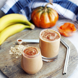 Pumpkin Pie Spice Protein Smoothie.