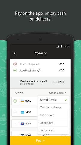 android Freshmenu: Fresh Food Delivery Screenshot 3