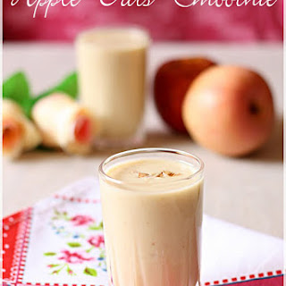 Apple Oats Smoothie.
